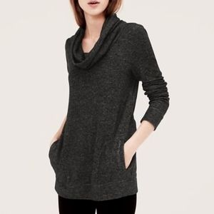 Lou & Grey Cowl Neck Pullover Sweatshirt Size S